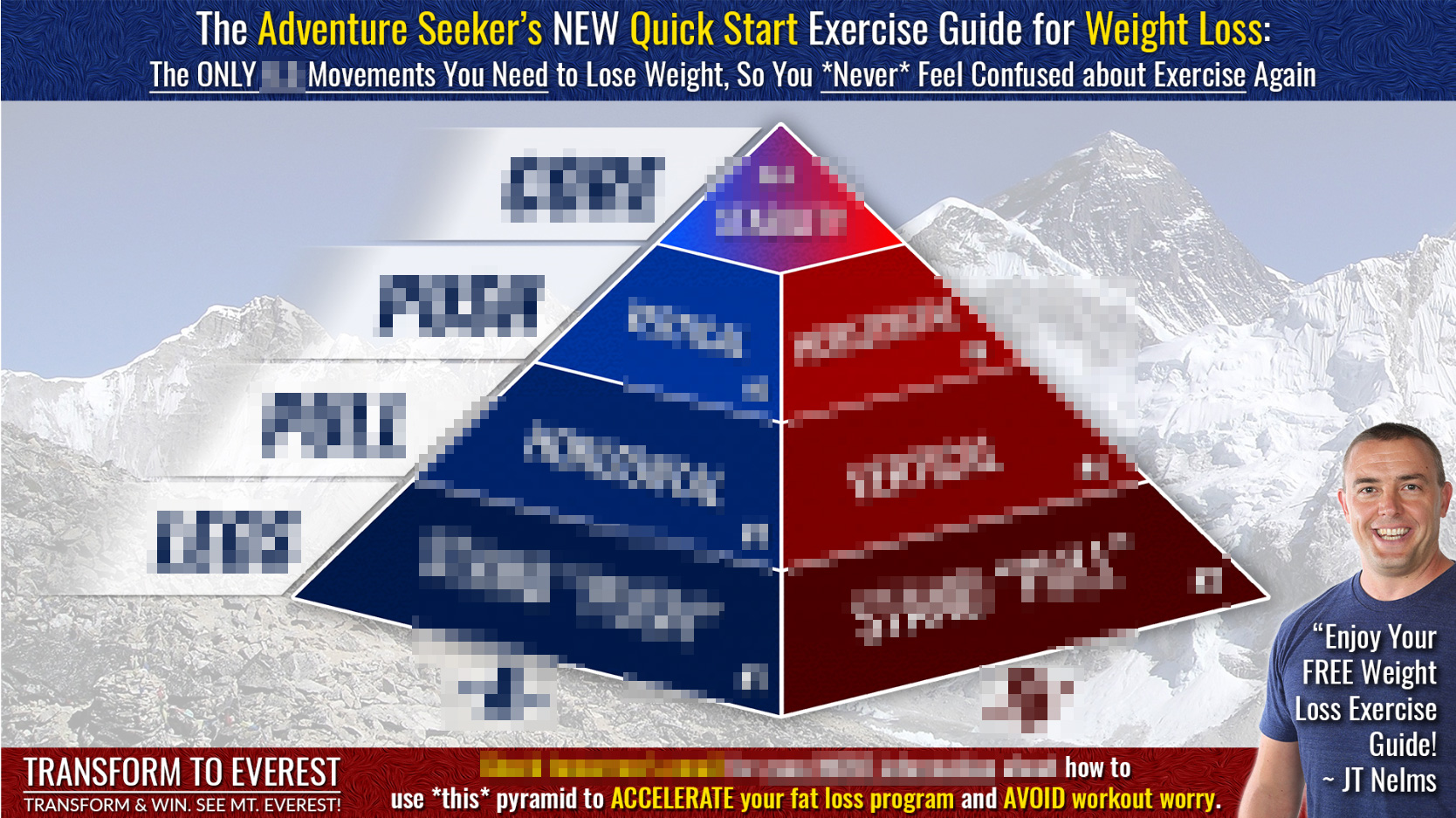 Blurred Exercise Pyramid
